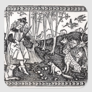 Orpheus Playing to the Animals, 1500 Square Sticker