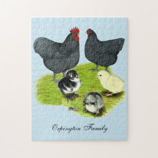 Orpington Blue Chicken Family Jigsaw Puzzle