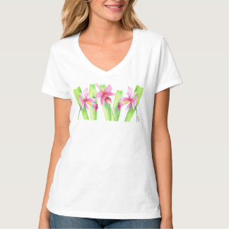 Orquídea watercolor Decorative Colorful Flower T-Shirt