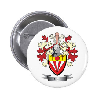 Orr Family Crest Coat of Arms 2 Inch Round Button