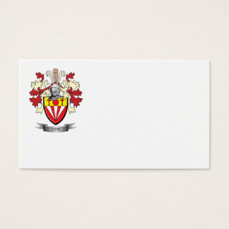 Orr Family Crest Coat of Arms Business Card