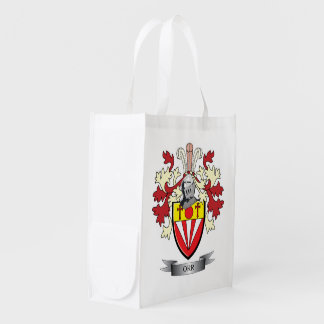 Orr Family Crest Coat of Arms Reusable Grocery Bags