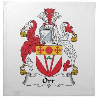 Orr Family Crest Napkin