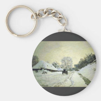 Orsay-brut by Claude Monet Key Chain