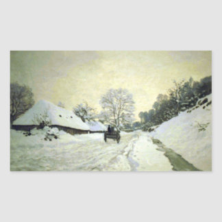 Orsay-brut by Claude Monet Rectangular Stickers