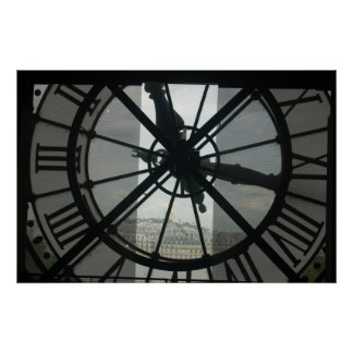 Orsay Clock Paris Poster