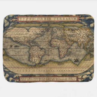 Ortelius World Map 1570 Baby Blanket