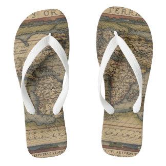 Ortelius World Map 1570 Flip Flops