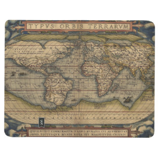 Ortelius World Map 1570 Journal