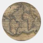 Ortelius World Map Classic Round Sticker