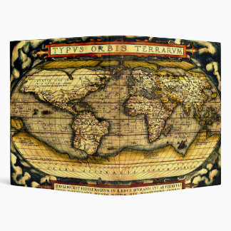 Ortellius World Map 1570 Vinyl Binder