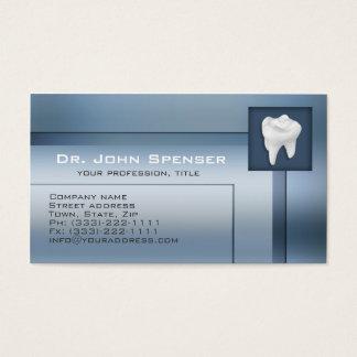 Orthodontist Blue Metal Business Card