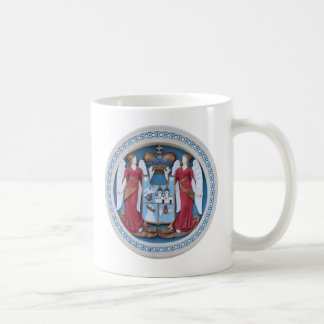 orthodox angels seal religion symbol stucco timiso coffee mug