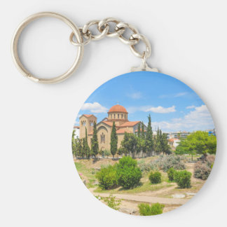 Orthodox cathedral in Athens, Greece Keychain