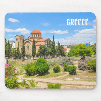 Orthodox cathedral in Athens, Greece Mouse Pad