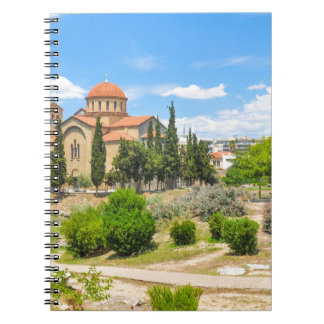 Orthodox cathedral in Athens, Greece Notebook