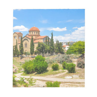 Orthodox cathedral in Athens, Greece Notepad