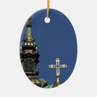 Orthodox Christian Church domes Ceramic Oval Ornament