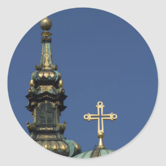 Orthodox Christian Church domes Classic Round Sticker
