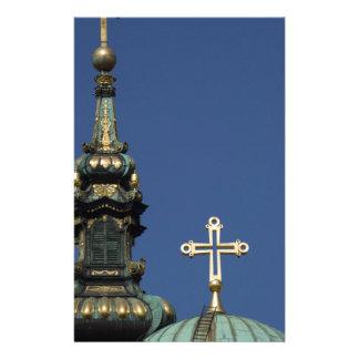 Orthodox Christian Church domes Customized Stationery