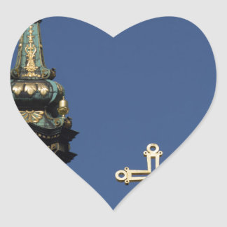 Orthodox Christian Church domes Heart Sticker