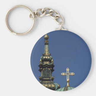 Orthodox Christian Church domes Keychain