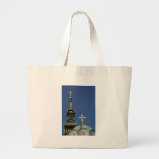 Orthodox Christian Church domes Large Tote Bag