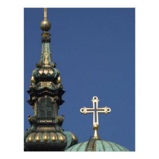 Orthodox Christian Church domes Letterhead Design
