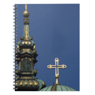 Orthodox Christian Church domes Spiral Notebook
