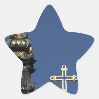 Orthodox Christian Church domes Star Sticker