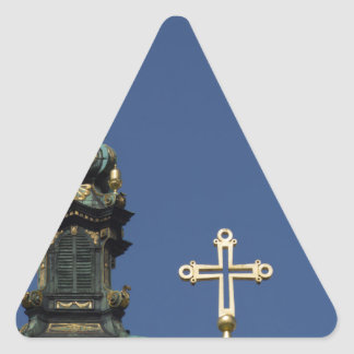 Orthodox Christian Church domes Triangle Sticker