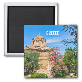 Orthodox church in Athens, Greece Magnet