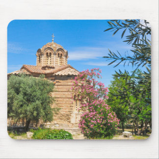 Orthodox church in Athens, Greece Mouse Pad