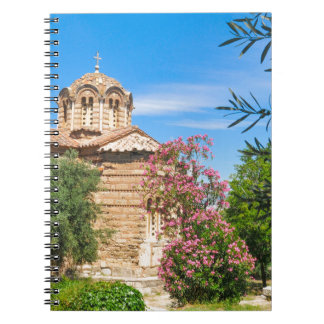 Orthodox church in Athens, Greece Notebook