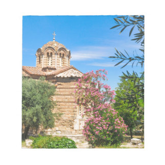 Orthodox church in Athens, Greece Notepad