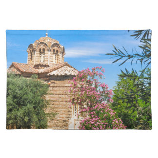 Orthodox church in Athens, Greece Placemat