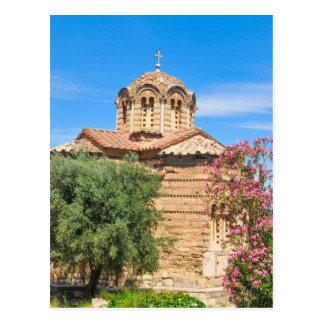 Orthodox church in Athens, Greece Postcard