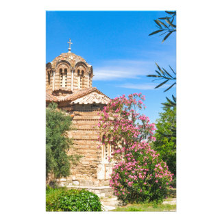 Orthodox church in Athens, Greece Stationery