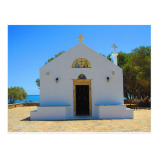 Orthodox Church in Gouves, Crete Postcard