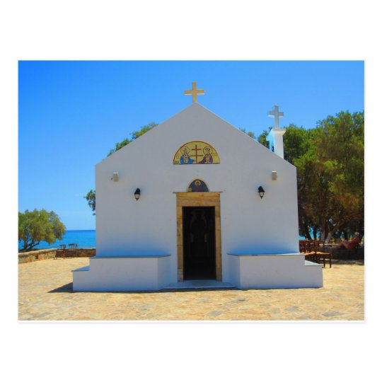 Orthodox Church in Gouves, Crete Postcard