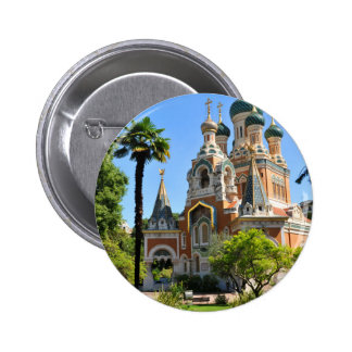 Orthodox church in Nice France 2 Inch Round Button