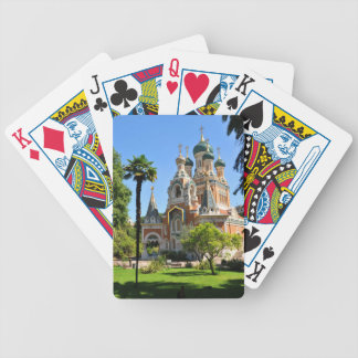 Orthodox church in Nice France Bicycle Playing Cards