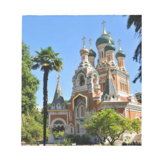 Orthodox church in Nice France Notepads