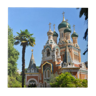 Orthodox church in Nice France Tiles