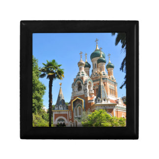 Orthodox church in Nice France Trinket Boxes