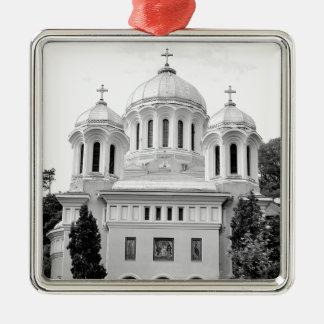 Orthodox church Silver-Colored square ornament