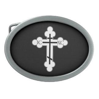 Orthodox cross belt buckle
