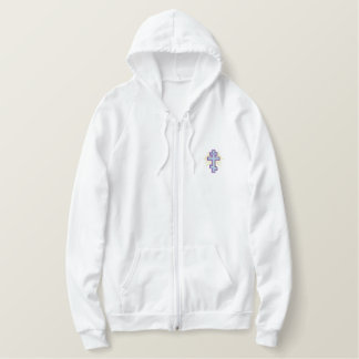 Orthodox Cross Embroidered Hoodie
