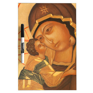 Orthodox Icon of Virgin Mary and Baby Jesus Dry Erase Whiteboard