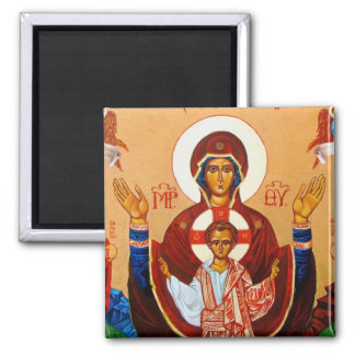 Orthodox Icon Virgin of Orans Magnet